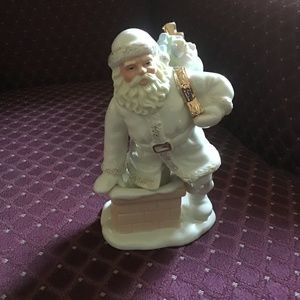 Lenox Santa Coming Out Of Chimney Figurine